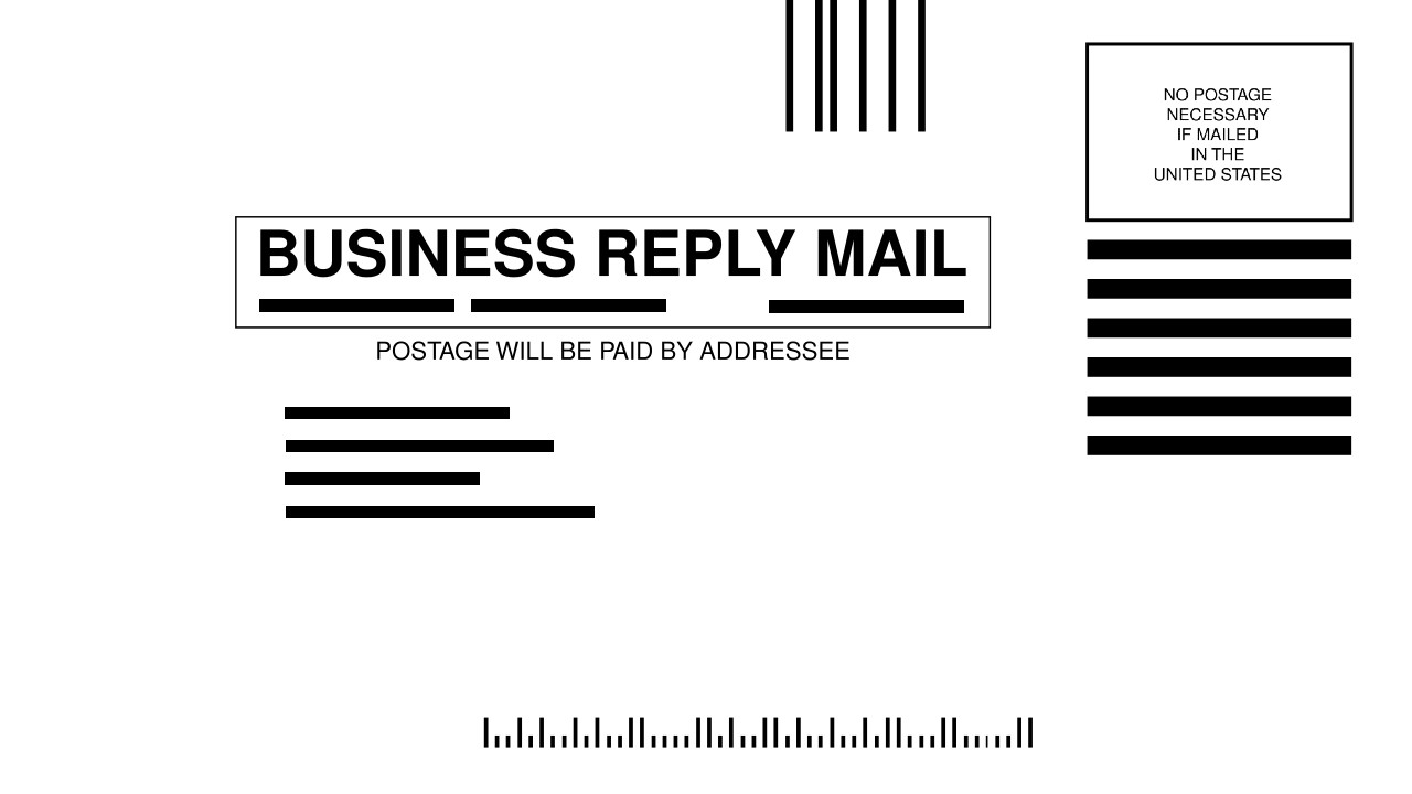 business reply mail brm